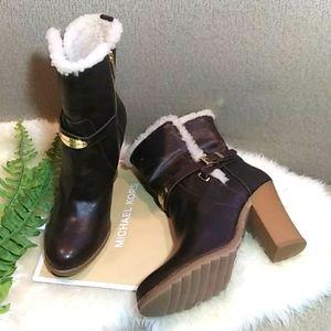 MICHAEL Michael Kors shearling leather boo…